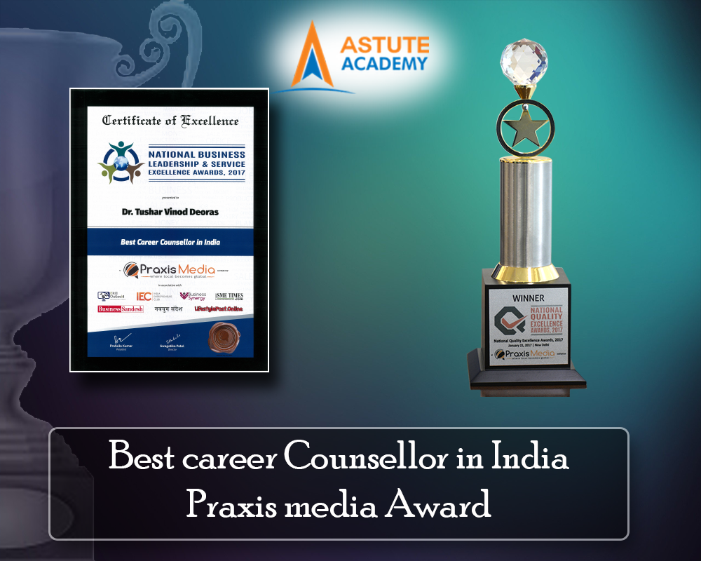 Best career Counsellor in India Praxis media Award